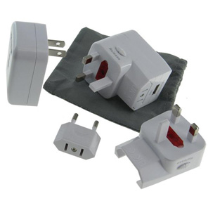 GM306 USB World Travel Adaptor With Pouch