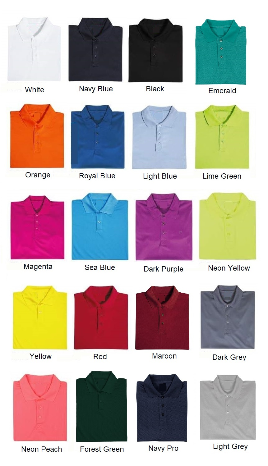 Quick Dry Plain Polo T-shirt