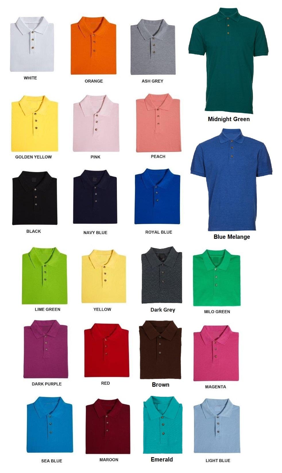 Honeycomb Plain Polo T-shirt