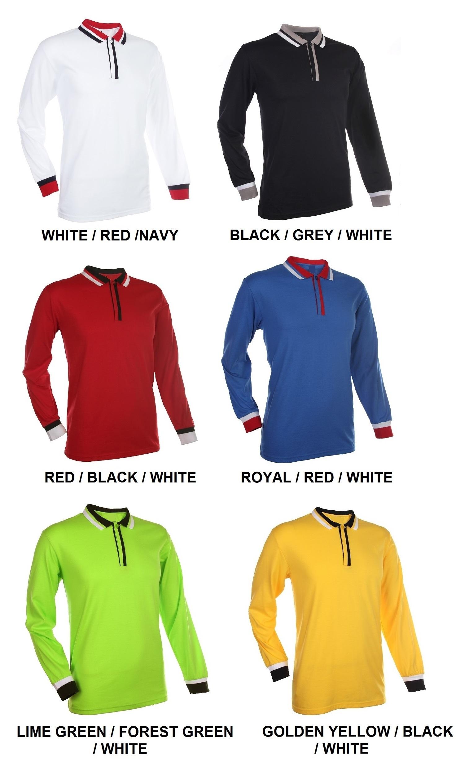Single Jersey Long Sleeve Polo Tee