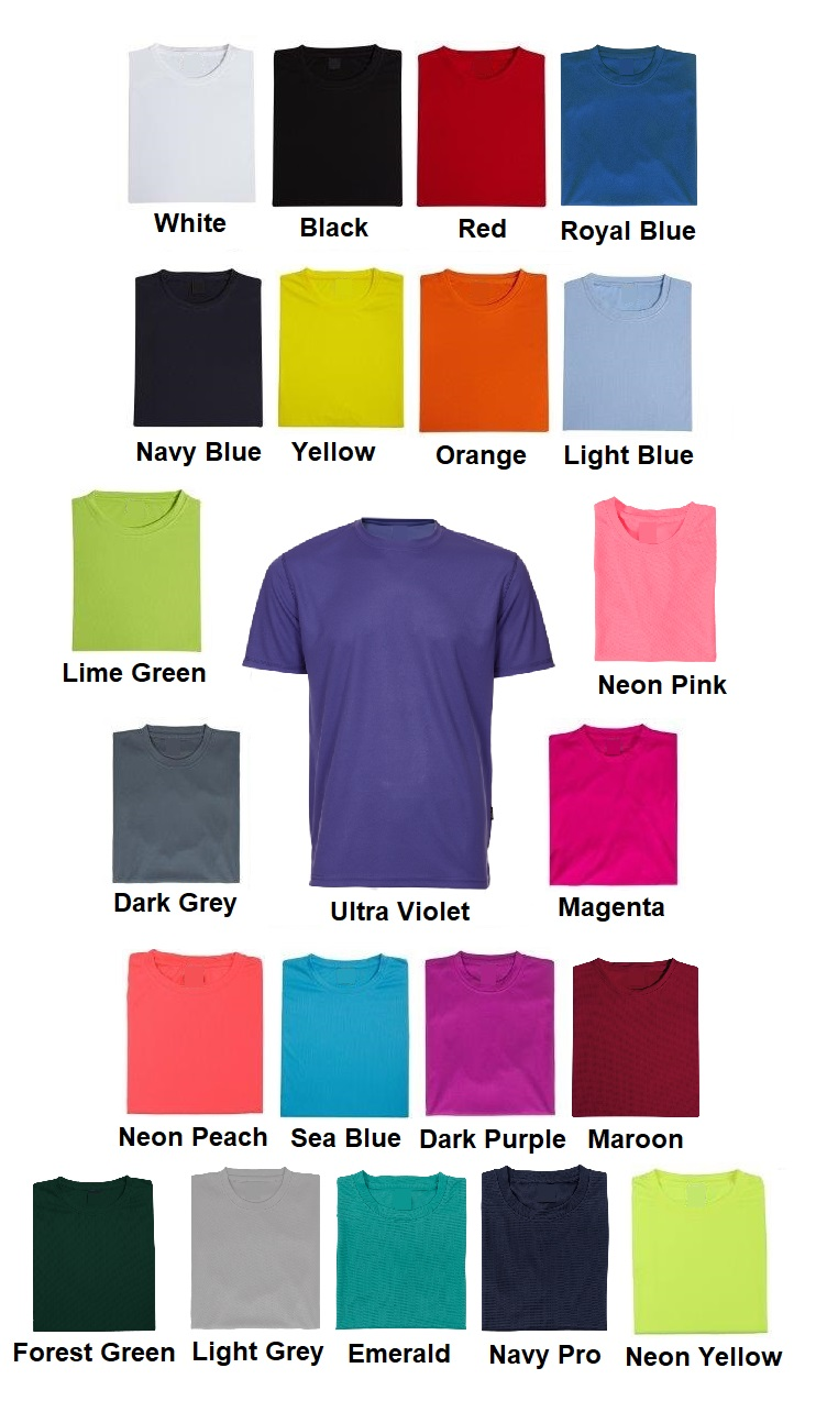 Quick Dry Plain Round Neck T-shirt