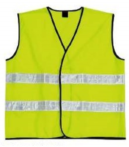Polyester Vest with Reflective stripes