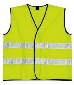 Polyester Vest with Reflective stripes
