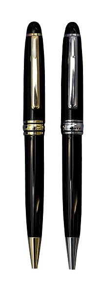 Executive Metal Ballpen in Gold/Black and Silver/Black