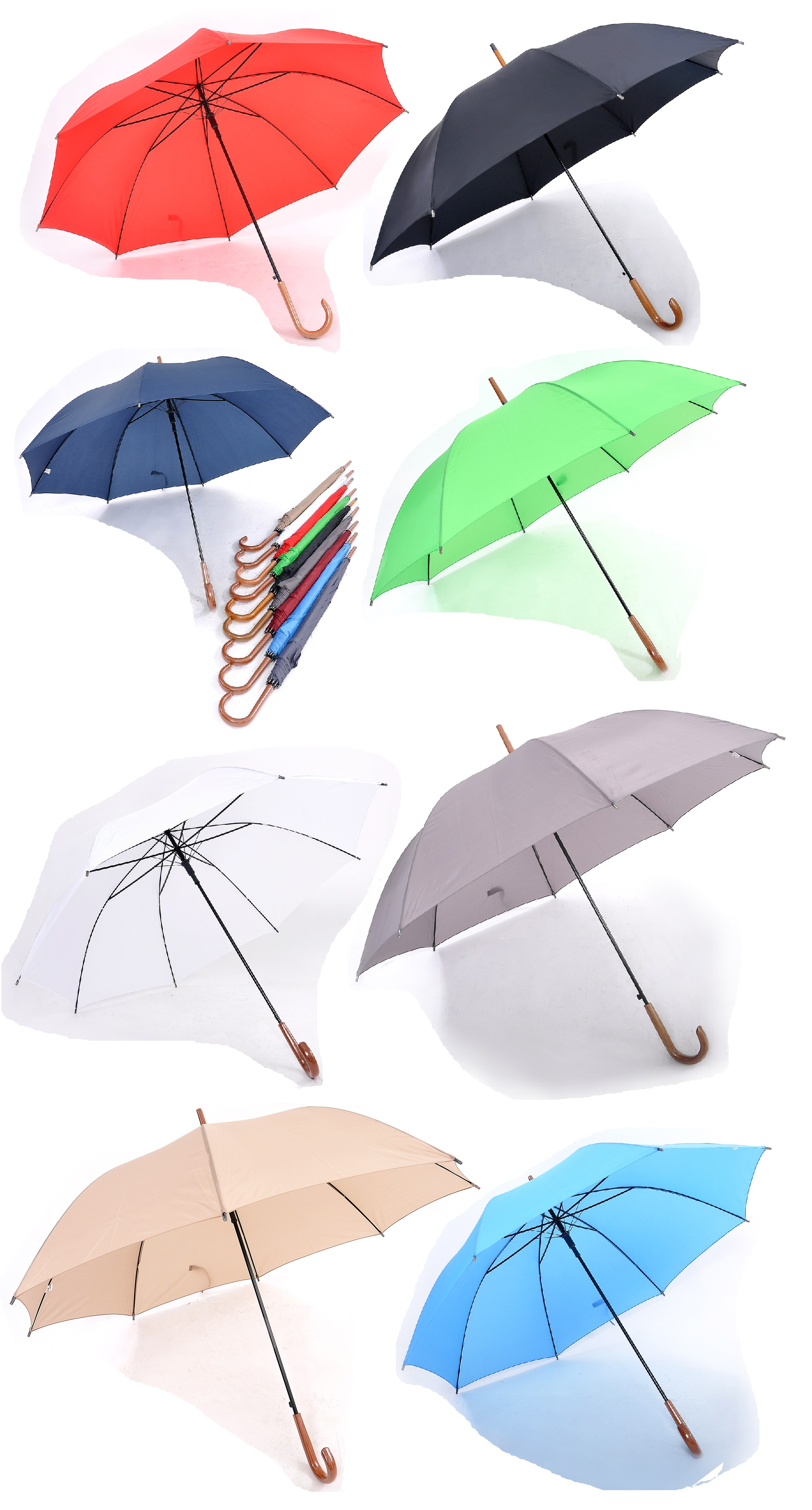 27inch Solid color Umbrella