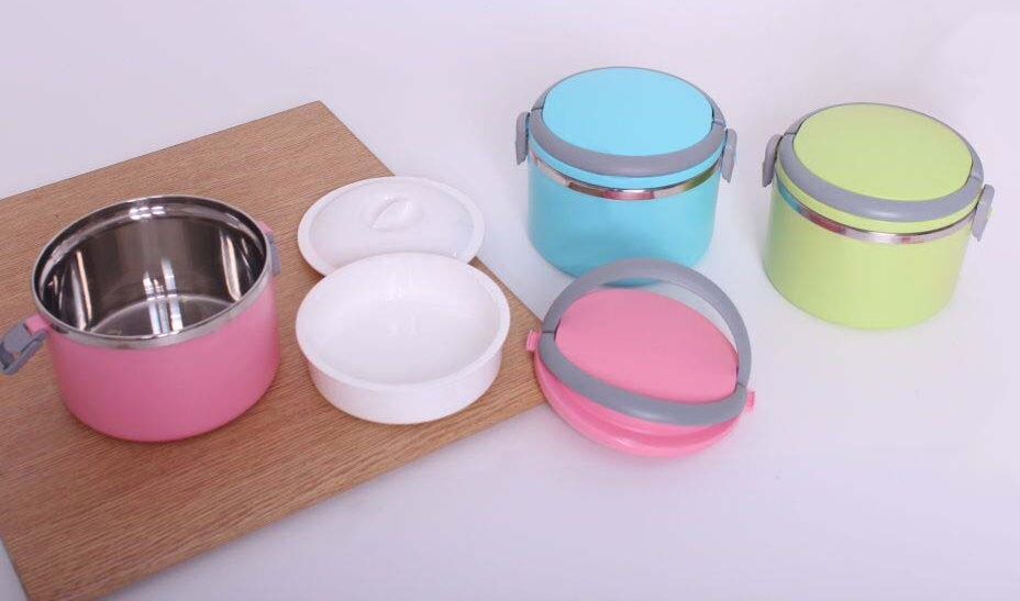 Two Layer Airtight Lunch Box with Spoon