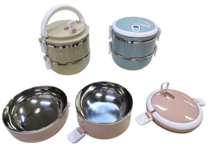2-tier Stainless steel Lunch Box with Safety Lock (Model B)