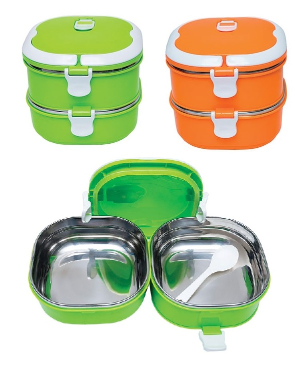 2-tier Stainless steel Lunch Box (Model C)