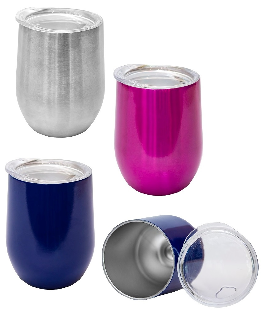 350ml Elegant Stainless Steel Mug with Lid