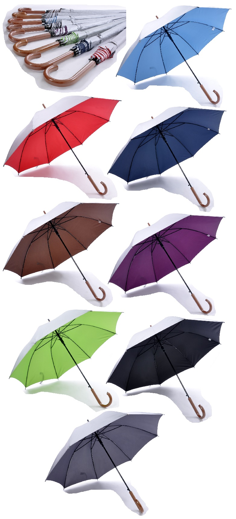 24inch Umbrella with UV Coating on exterior panels